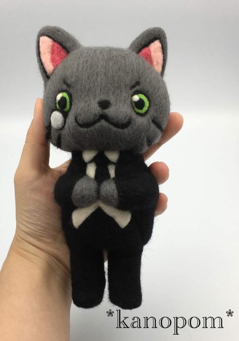 羊毛フェルト オーダーメイド クロネさん人形 オリジナル